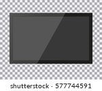 tv  modern blank screen lcd ... | Shutterstock .eps vector #577744591