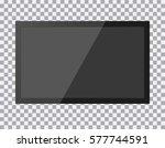 tv  modern blank screen lcd ... | Shutterstock .eps vector #577744591