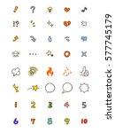 handwritten feelings and... | Shutterstock .eps vector #577745179