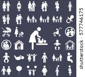 mother and child vector symbol... | Shutterstock .eps vector #577746175