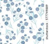 flowers seamless pattern.... | Shutterstock .eps vector #577749889