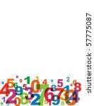 numbers background  vector. | Shutterstock .eps vector #57775087
