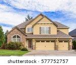 beautiful  newly built luxury... | Shutterstock . vector #577752757