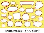 various speech bubbles | Shutterstock . vector #57775384