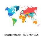 political world map vector... | Shutterstock .eps vector #577754965