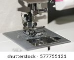 needle on the sewing machine | Shutterstock . vector #577755121