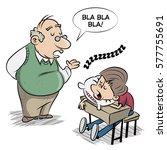 teacher and pupil | Shutterstock .eps vector #577755691