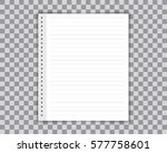 blank realistic spiral notepad... | Shutterstock .eps vector #577758601