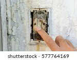 hand's man turn off electric... | Shutterstock . vector #577764169