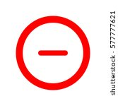 minus sign in circle icon. zoom ... | Shutterstock .eps vector #577777621