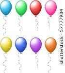 coloured balloons   Shutterstock .eps vector #57777934