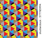 triangle abstract pattern or...   Shutterstock .eps vector #577785994