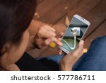 home security online by... | Shutterstock . vector #577786711