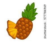 pineapple fruit isolated on... | Shutterstock .eps vector #577786969