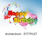 happy birthday | Shutterstock .eps vector #57779137