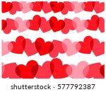hearts   background | Shutterstock . vector #577792387