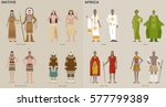 traditional costumes by country ... | Shutterstock .eps vector #577799389