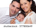 parents with their one month... | Shutterstock . vector #577800649