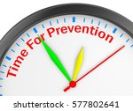 time for prevention concept... | Shutterstock . vector #577802641