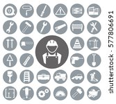 construction icons set.vector... | Shutterstock .eps vector #577806691