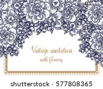 romantic invitation. wedding ... | Shutterstock .eps vector #577808365