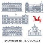 italian landmarks and famous...   Shutterstock .eps vector #577809115