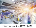 abstract blur people in factory ... | Shutterstock . vector #577811671