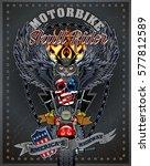 vintage motorcycle label   Shutterstock .eps vector #577812589