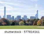 the great lawn in central park... | Shutterstock . vector #577814161