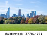 the great lawn in central park... | Shutterstock . vector #577814191