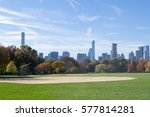 the great lawn in central park... | Shutterstock . vector #577814281