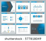 presentation background design... | Shutterstock .eps vector #577818049