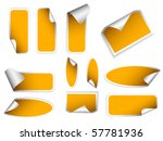 realistic stickers with peeling ... | Shutterstock .eps vector #57781936