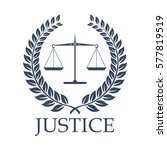 legal or law icon with symbols... | Shutterstock .eps vector #577819519