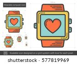 wearable computer vector line... | Shutterstock .eps vector #577819969
