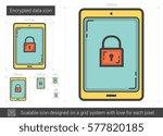 encrypted data vector line icon ...   Shutterstock .eps vector #577820185