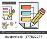 data architecture vector line... | Shutterstock .eps vector #577822279