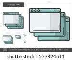 new tab vector line icon... | Shutterstock .eps vector #577824511