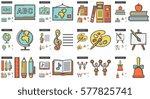 education vector line icon set... | Shutterstock .eps vector #577825741