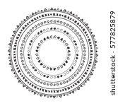 hand drawn boho style frame...   Shutterstock .eps vector #577825879