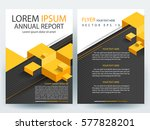 abstract vector modern flyers... | Shutterstock .eps vector #577828201
