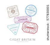 great britain travel visa... | Shutterstock .eps vector #577830001