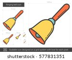 ringing bell vector line icon... | Shutterstock .eps vector #577831351