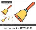 ringing bell vector line icon...   Shutterstock .eps vector #577831351
