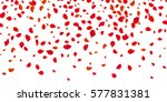 Stock vector flowers petals falling on vector white background valentine wedding or women day love red roses 577831381