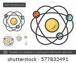 atom structure vector line icon ... | Shutterstock .eps vector #577832491