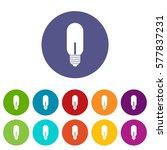 light bulb set icons in... | Shutterstock . vector #577837231