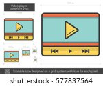 video player interface vector... | Shutterstock .eps vector #577837564