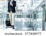 young man carrying a carry bag... | Shutterstock . vector #577838977
