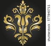 Oriental Vector Golden Pattern...